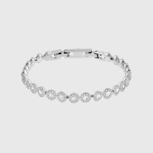 SWAROVSKI Angelic Bracelet, White, Rhodium Plating - Size M
