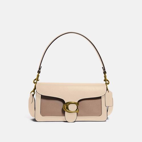 蔻驰COACH Tabby Shoulder Bag 26 In Colorblock - Cream