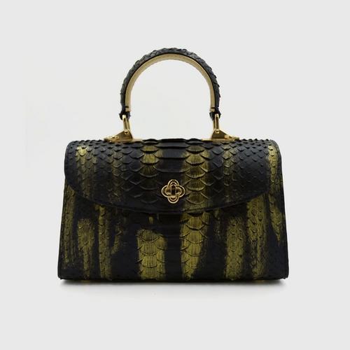 "OPIUM ""SANSA S"" Python Handbag - Dark Phoenix"