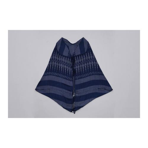 THONGSIRI INDIGO BLUE Bow Tie Pattern Shirt - Free size