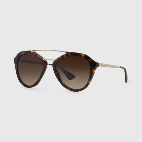 PRADA Catwalk Havana Brown Gradient Female Sunglass