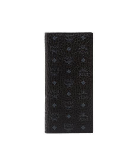 MCM 皮革两折式钱包 - 黑色