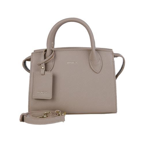 "MUNIGA ""MARIEN"" SHOULDER BAG (Beige) L23 x H 18 x W 11 cm."