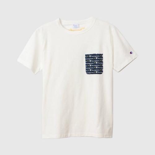 CHAMPION Campus S/S Pocket T-Shirt Men White Size M