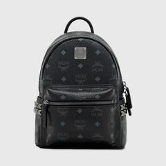 MCM Stark Side Studs Backpack in Visetos Mini