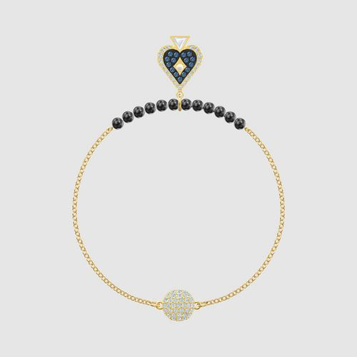 SWAROVSKI Remix Collection Spade Strand, Multi-colored, Gold-tone plated - Size S