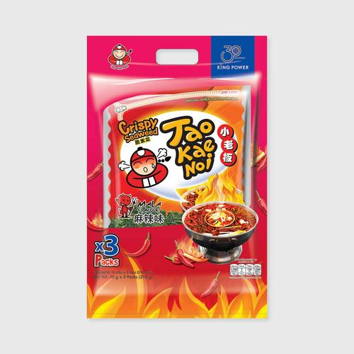 Taokaenoi Crispy Seaweed Mala Travel Pack (70Gx3Packs).