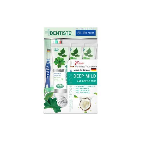 DENTISTE 100%天然植物草本牙膏100G*3 & 牙刷
