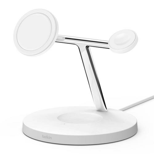 Belkin PRO MagSafe 3-in-1 Wireless Charger - White