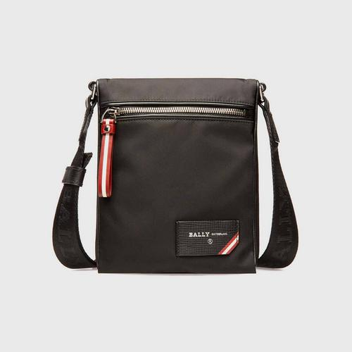 BALLY Fincher Nylon Cross-Body Bag In Black