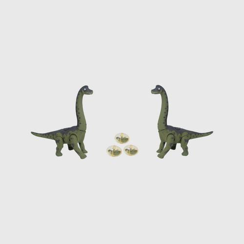 BB TOY Dinosaurs with Light and Sound Laying-Projecting Images - Orange