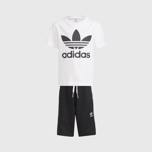 Adidas SHORT TEE SET - WHITE SIZE 104 CM UK