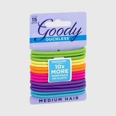 GOODY Women's Ouchless Elastics, Neon, 4 MM Multi color 15CT