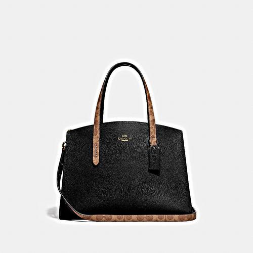 COACH CHARLIE CARRYALL WITH SIGNATURE CANVAS BLOCKING