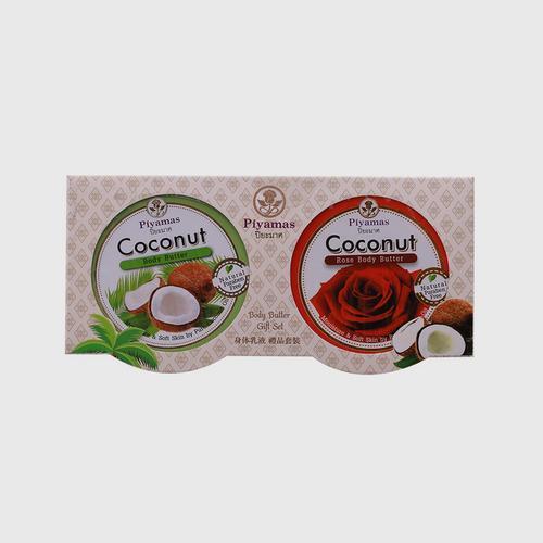 PIYAMAS Body Butter Gift Set (Coconut + Coconut Rose) 100g x 2