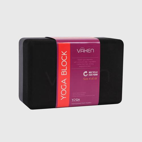 VAKEN Recycled Foam Yoga Block - Black Shadow