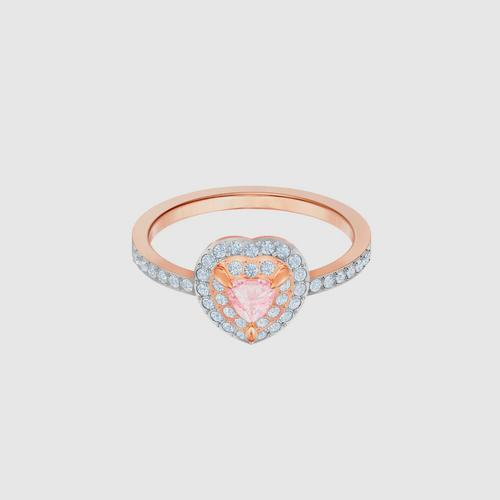 SWAROVSKI One Ring, Multi-colored, Rose-gold tone plated - Size 55