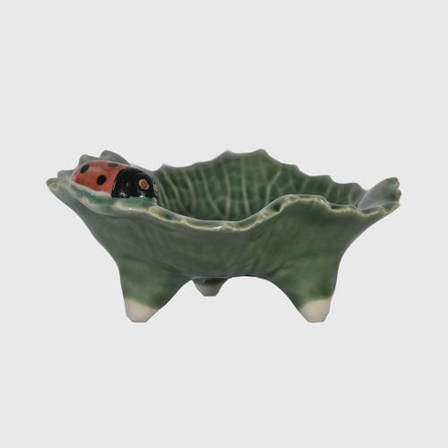 CHULABHORN  LOTUS  Soap Dish with Turtle B5