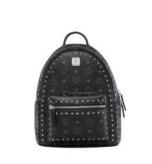 MCM STARK OUTLINE STUDS BACKPACK - BLACK (Small)