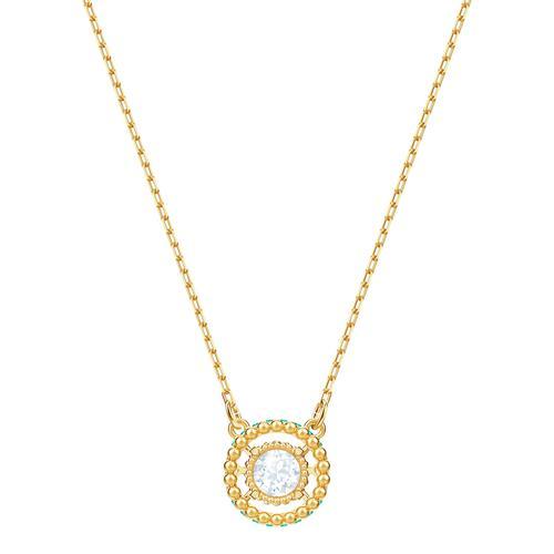 SWAROVSKI Oxygen Necklace, Multi-colored, Gold-tone plated