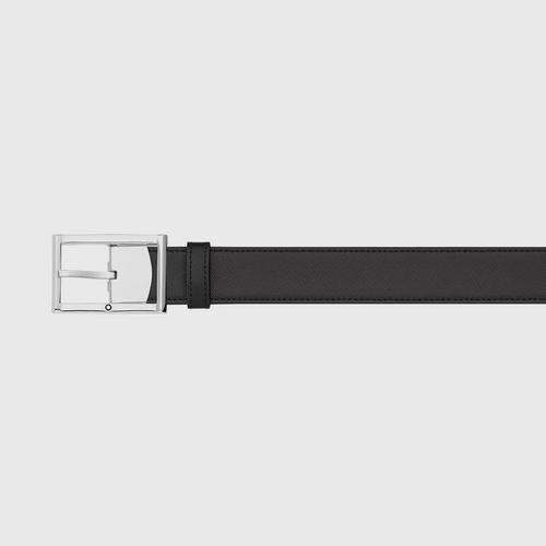 Montblan Rectangular Frame Shiny Stainless Steel Pin Buckle