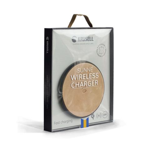 Krusell Sunne Wireless Charger Universal Nude