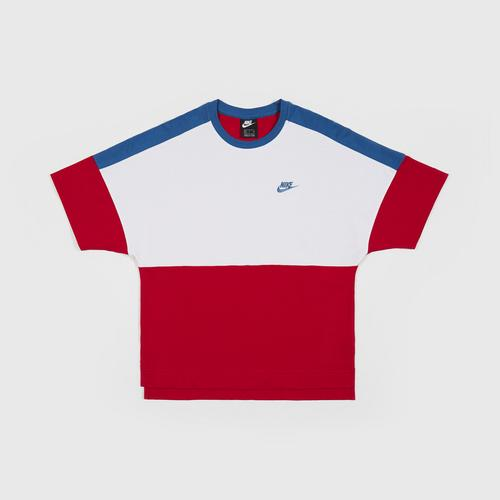 NIKE NSW TOP SS JSY CB-M size 2XL UNIVERSITY RED/WHITE/INDUSTRIAL BLUE US