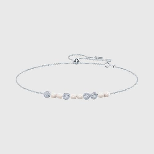 SWAROVSKI So Cool Choker, White, Rhodium plated