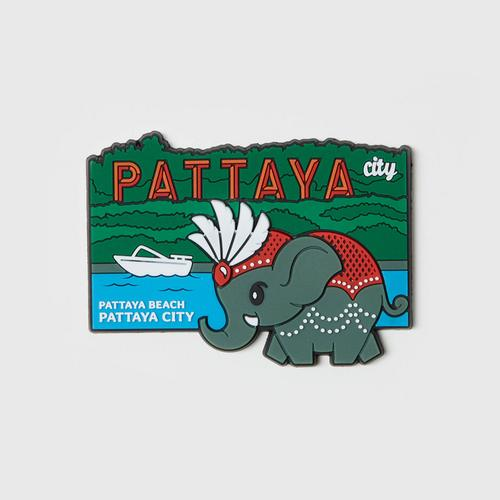 MAHANAKHON Elephant & Landmark Pattaya Magnet
