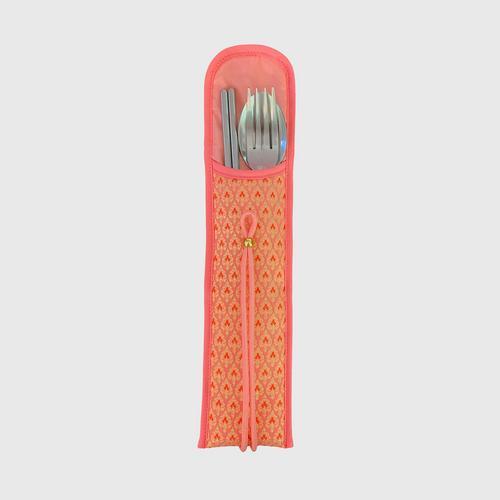 KACHA Utensil Pocket Silk - Orange