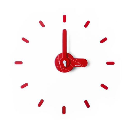 On-Time wall clock Full Red