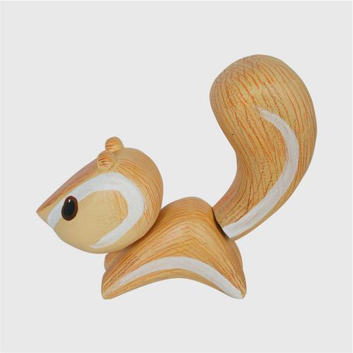 MR.THOW WOOD CRAFT DOLLS. OTOP Hand painted woodsquirrel size m