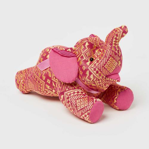 "SUNSANEE Flying Yokdok Silk Elephant Doll 2"" - PINK"
