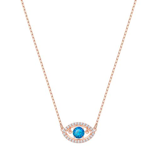 SWAROVSKI Luckily Necklace, Multi-Colored, Rose-Gold Tone Plated