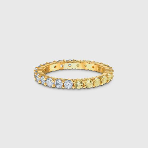 SWAROVSKI Vittore Half Ring, Gold tone, Gold-tone plated - Size 55