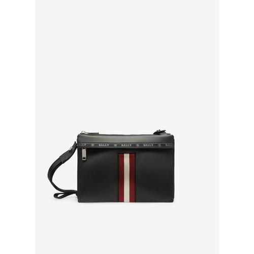 BALLY Harvey - Leather Cross-Body Bag In Black