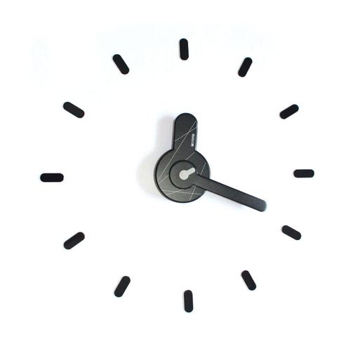 On-Time wall clock  Black-White