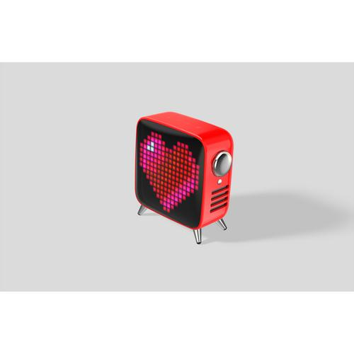 DIVOOM Tivoo Max Bluetooth Speaker - Red