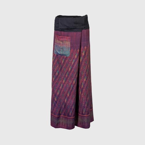 WANPEN THAISILK - Silk Pants Mee Rao pattern Free size