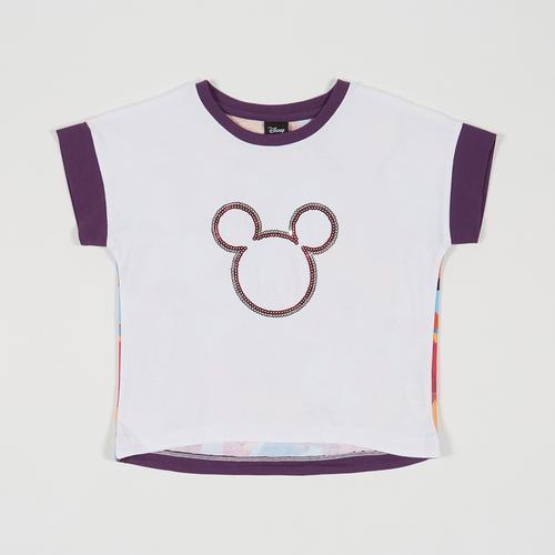 Disney Girl T-Shirt Mickey White-S