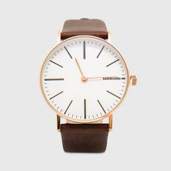 Lambretta Watch Cesare 42 Rose Gold White Brown