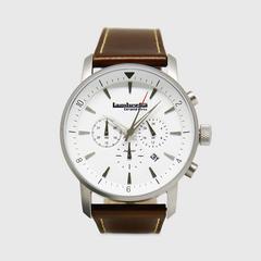 Lambretta Watch Imola44 White Leather Brown