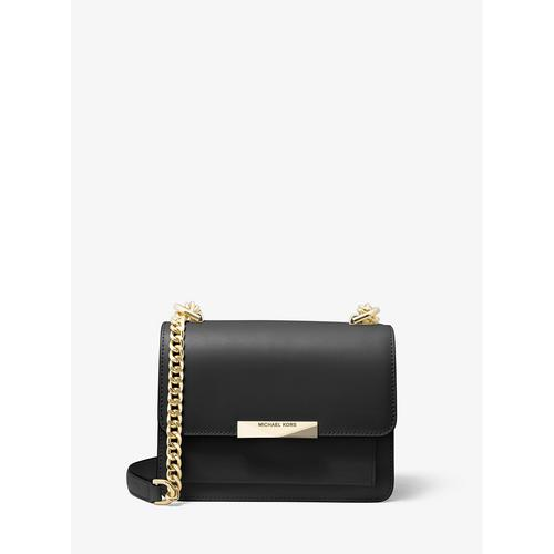 MICHAEL KORS Jade Extra-Small Leather Crossbody Bag - BLACK