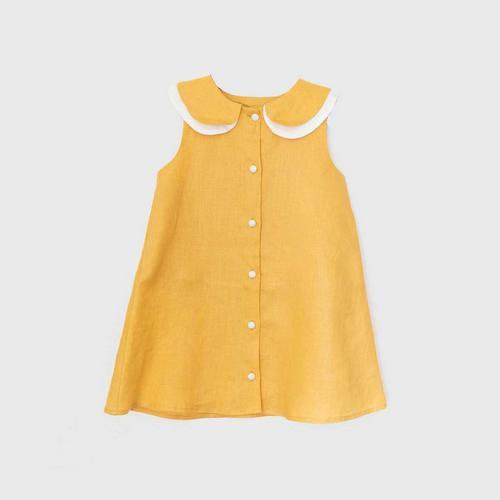 TINY MOON Sadie Dress 2-3Y - Mustard