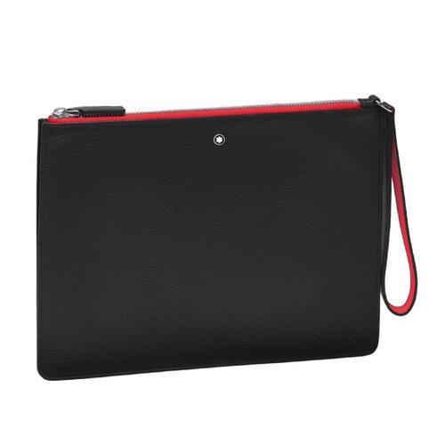 MONTBLANC Meisterstück Soft Grain My Office Pouch Medium - Black/Red