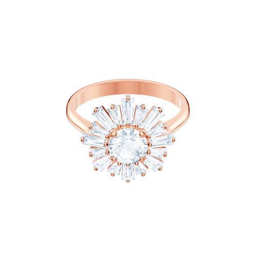 SWAROVSKI Sunshine Ring, White, Rose-gold tone plated-Size 55