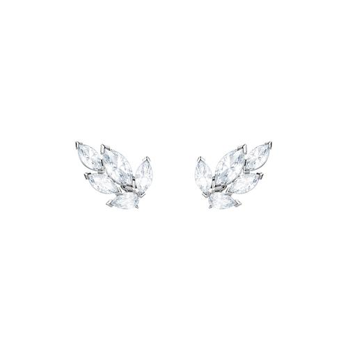 SWAROVSKI Louison Stud Pierced Earrings, White, Rhodium plating