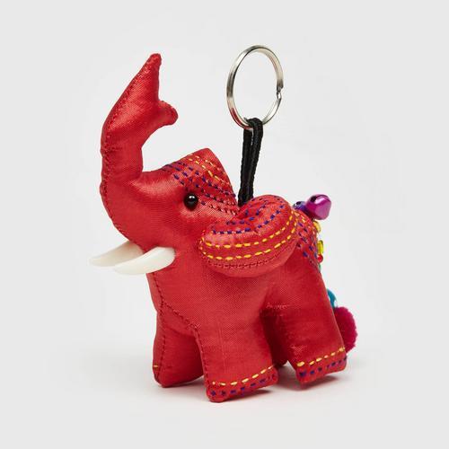 @PRAEWA elephant hand stitches keychain (red)  2cm x 3.5 cm