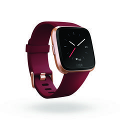 Fitbit Versa™ Ruby Band/Rose Gold Aluminum Case EU