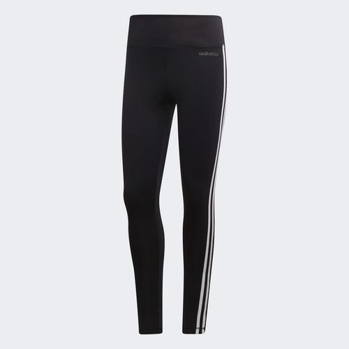ADIDAS WOMEN DESIGN 2 MOVE 3-STRIPES HIGH-RISE LONG TIGHTS - SIZE XS